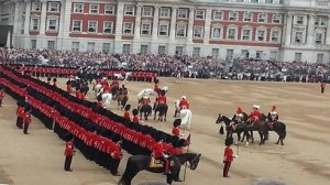 No its not a post card, we were there: Trooping the Colour QB Parade 2014